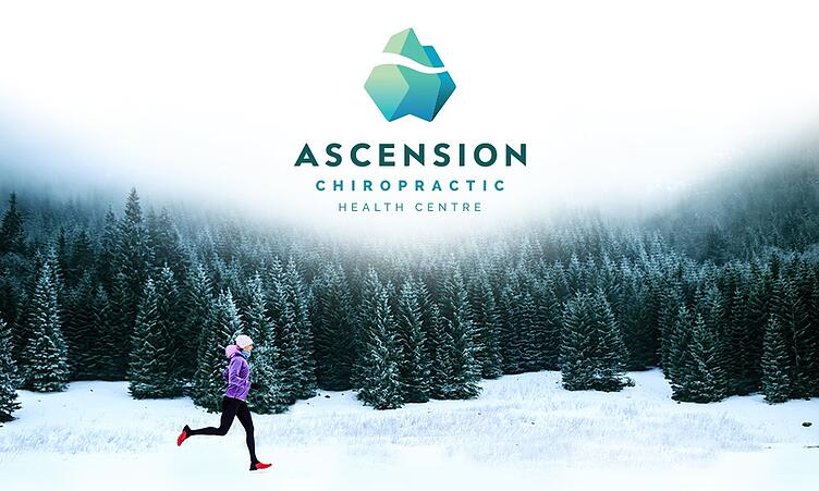 Ascension Chiropractic Logo and runner in woods image
