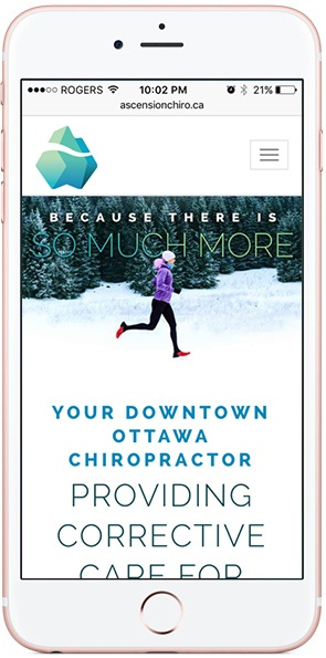 Ascension Chiropractic mobile website on iPhone