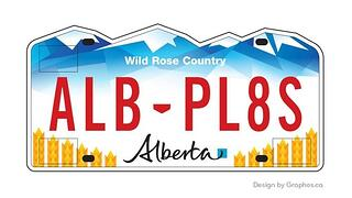 Graphos Alberta License plate design