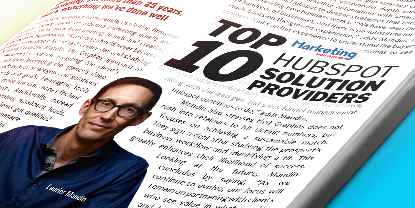 We're a Marketing Tech Outlook Top 10 Hubspot Provider!